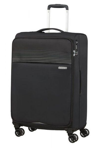 American Tourister Látkový cestovní kufr Lite Ray M 75 l – černá