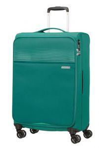 American Tourister Látkový cestovní kufr Lite Ray M 75 l – zelená