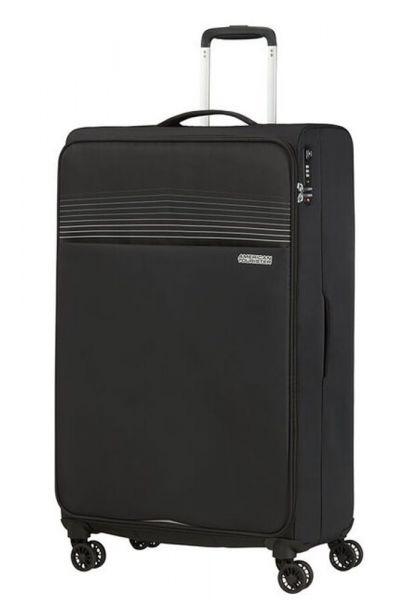 American Tourister Látkový cestovní kufr Lite Ray XL 105 l – černá