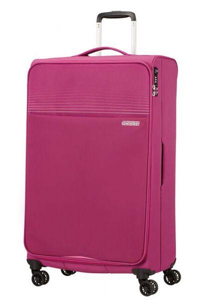 American Tourister Látkový cestovní kufr Lite Ray XL 105 l – růžová