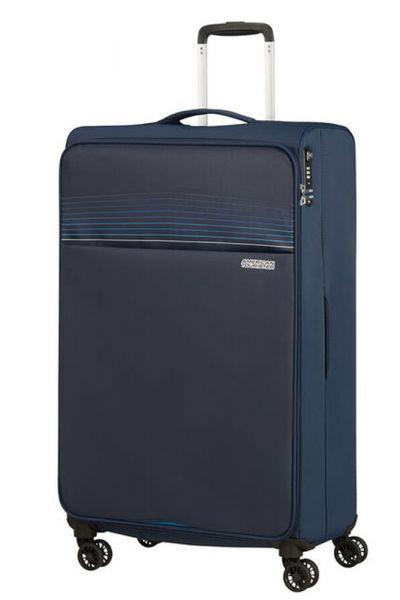 American Tourister Látkový cestovní kufr Lite Ray XL 105 l – tmavě modrá