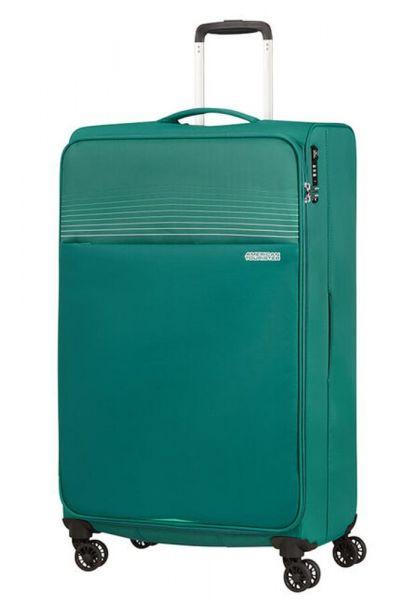 American Tourister Látkový cestovní kufr Lite Ray XL 105 l – zelená