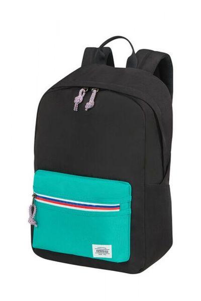 American Tourister Městský batoh Upbeat Zip 19,5 l – černá/tyrkysová