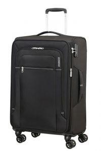 American Tourister Látkový cestovní kufr Crosstrack EXP M 71,5/77 l – černá