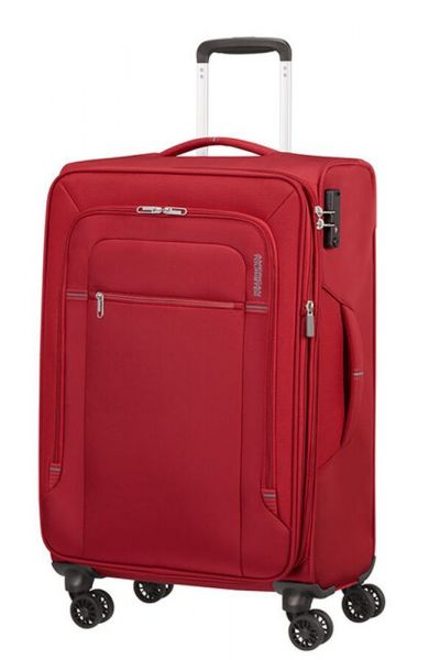 American Tourister Látkový cestovní kufr Crosstrack EXP M 71,5/77 l – červená