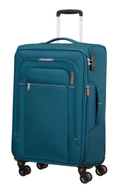 American Tourister Látkový cestovní kufr Crosstrack EXP M 71,5/77 l – modrá