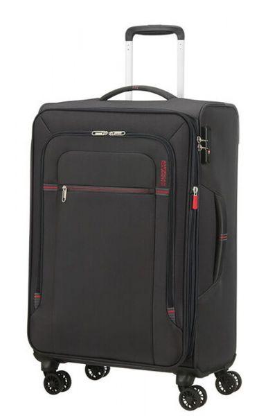 American Tourister Látkový cestovní kufr Crosstrack EXP M 71,5/77 l – tmavě šedá