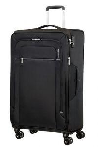 American Tourister Látkový cestovní kufr Crosstrack EXP L 109,5/119 l – černá