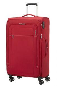 American Tourister Látkový cestovní kufr Crosstrack EXP L 109,5/119 l – červená