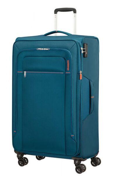 American Tourister Látkový cestovní kufr Crosstrack EXP L 109,5/119 l – modrá
