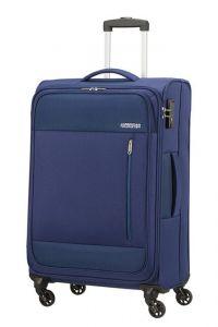 American Tourister Látkový cestovní kufr Heat Wave M 65 l – modrá