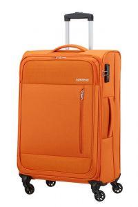 American Tourister Látkový cestovní kufr Heat Wave M 65 l – oranžová