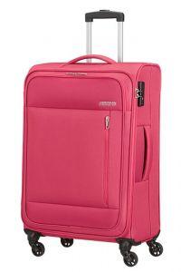 American Tourister Látkový cestovní kufr Heat Wave M 65 l – růžová