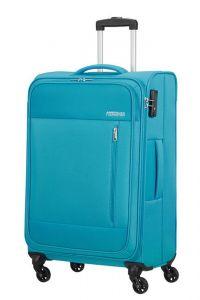 American Tourister Látkový cestovní kufr Heat Wave M 65 l – světle modrá