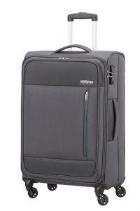 American Tourister Látkový cestovní kufr Heat Wave M 65 l – šedá