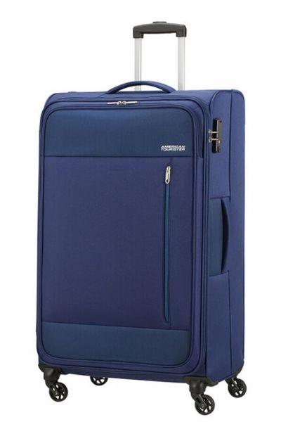 American Tourister Látkový cestovní kufr Heat Wave L 92 l – modrá