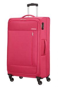 American Tourister Látkový cestovní kufr Heat Wave L 92 l – růžová