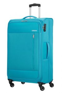 American Tourister Látkový cestovní kufr Heat Wave L 92 l – světle modrá