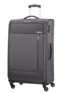 American Tourister Látkový cestovní kufr Heat Wave L 92 l – šedá