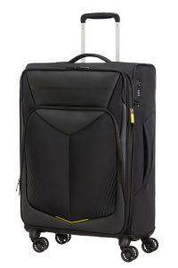 American Tourister Látkový cestovní kufr Summerfunk Carbon EXP M 71,5/77 l – černá