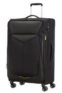 American Tourister Látkový cestovní kufr Summerfunk Carbon EXP L 109,5/119 l – černá