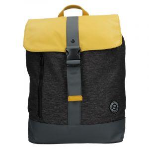 Pánský vintage batoh Lerros Alfred – černo-žlutá