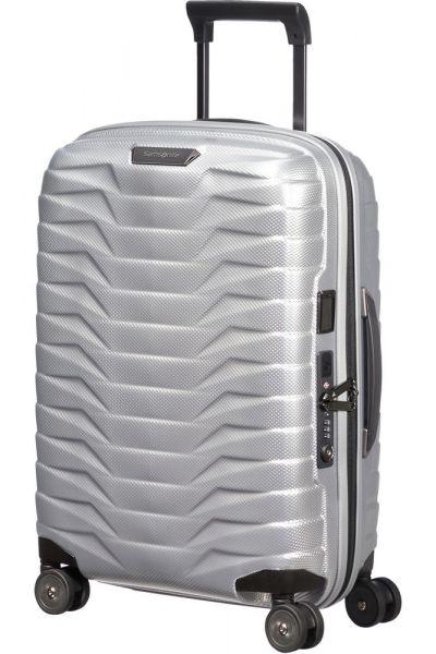Samsonite Kabinový cestovní kufr Proxis EXP S 38/44 l – stříbrná