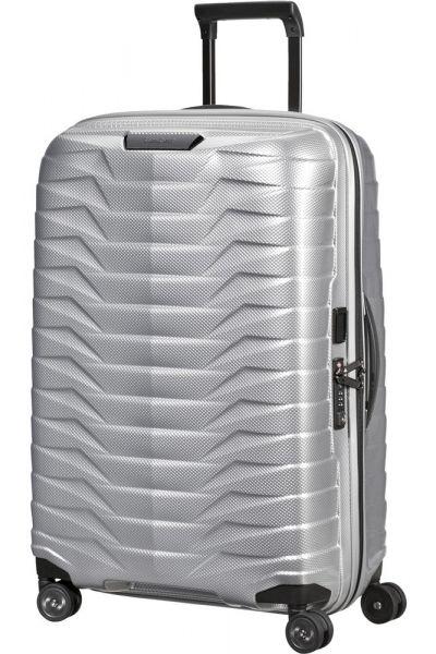 Samsonite Skořepinový cestovní kufr Proxis M 75 l – stříbrná