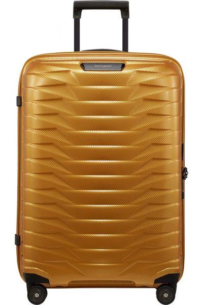 Samsonite Skořepinový cestovní kufr Proxis M 75 l – zlatá