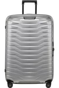 Samsonite Skořepinový cestovní kufr Proxis L 98 l – stříbrná