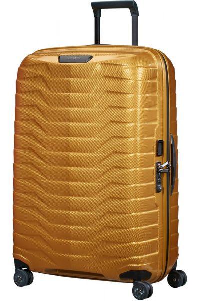 Samsonite Skořepinový cestovní kufr Proxis L 98 l – zlatá