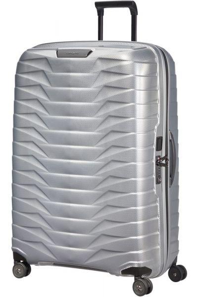 Samsonite Skořepinový cestovní kufr Proxis XL 125 l – stříbrná
