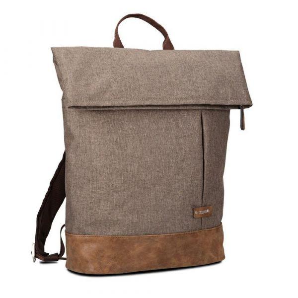 Zwei Unisexový městský batoh na notebook Olli O25 12/19 l – světle hnědá