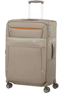 Samsonite Látkový cestovní kufr Duopack EXP 1 Frame 74/82 l – béžová