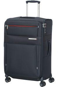 Samsonite Látkový cestovní kufr Duopack EXP 1 Frame 74/82 l – tmavě modrá