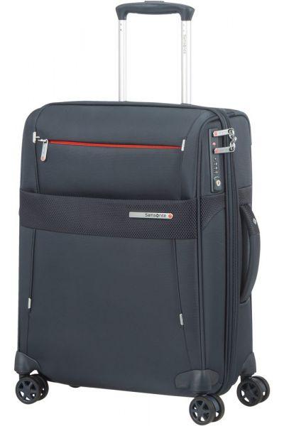 Samsonite Kabinový cestovní kufr Duopack EXP 2 Frame 42/49 l – tmavě modrá