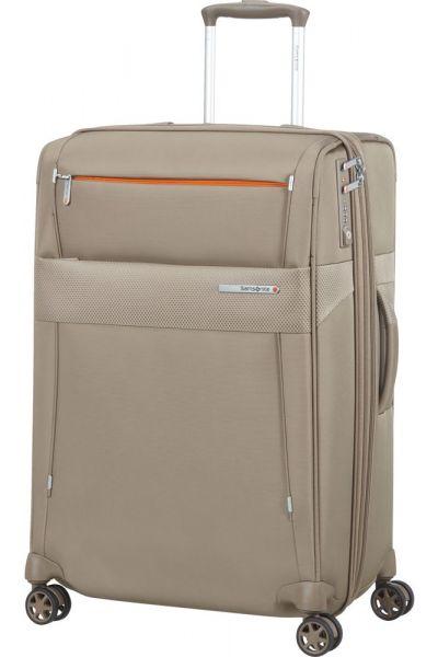 Samsonite Látkový cestovní kufr Duopack EXP 2 Frame 81/91 l – béžová
