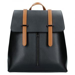 Dámský kožený batoh Delami Beathag – černo-hnědá