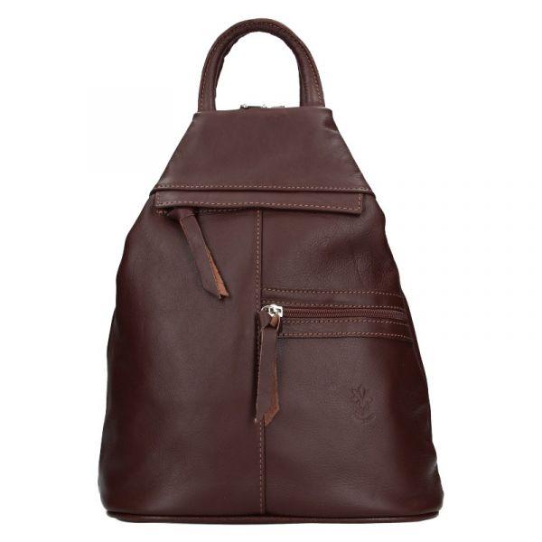 Dámský kožený batoh Vera Pelle Boliva – hnědá