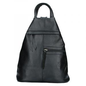Dámský kožený batoh Vera Pelle Boliva – černá