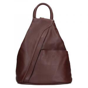 Dámský kožený batoh Vera Pelle Capita – hnědá