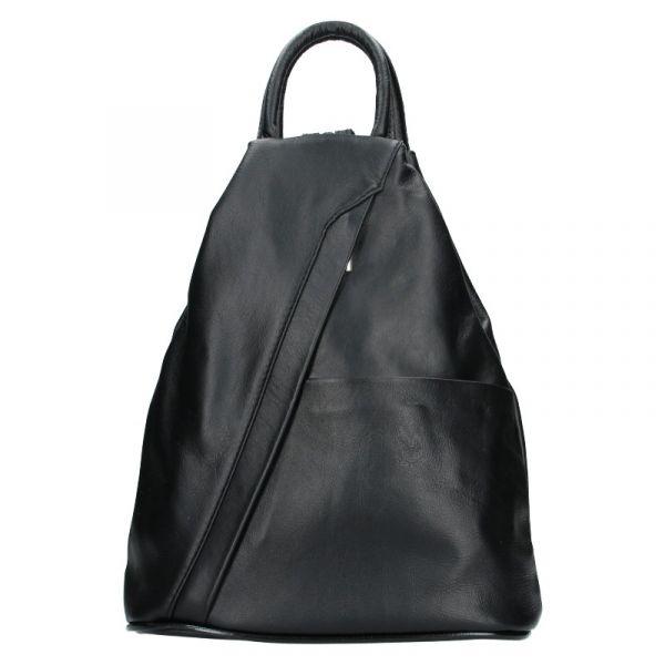 Dámský kožený batoh Vera Pelle Capita – černá