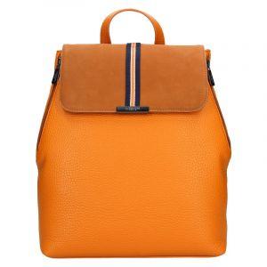 Elegantní dámský batoh Hexagona Lili – mandarinková
