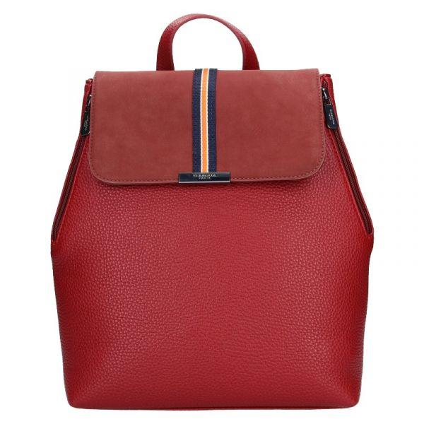 Elegantní dámský batoh Hexagona Lili – tmavě červená
