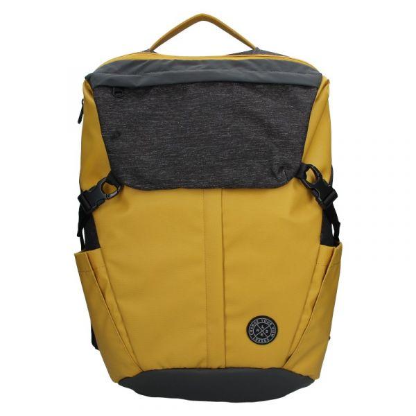 Pánský vintage batoh Lerros Matejs – šedo-žlutá