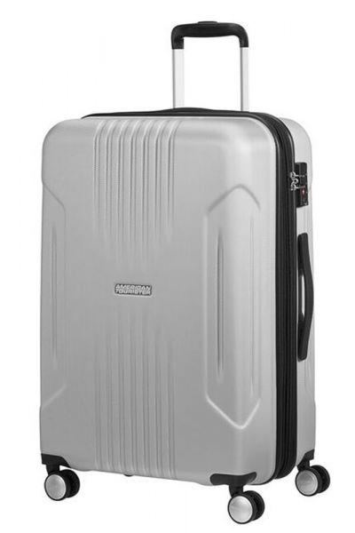 American Tourister Střední cestovní kufr Tracklite Spinner EXP 34G 71/82 L – stříbrná