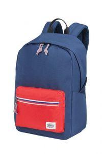 American Tourister Městský batoh Upbeat Zip 19,5 l – modrá/červená