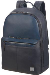 """Samsonite Kožený batoh na notebook Senzil 15.6"""" – modrá"""