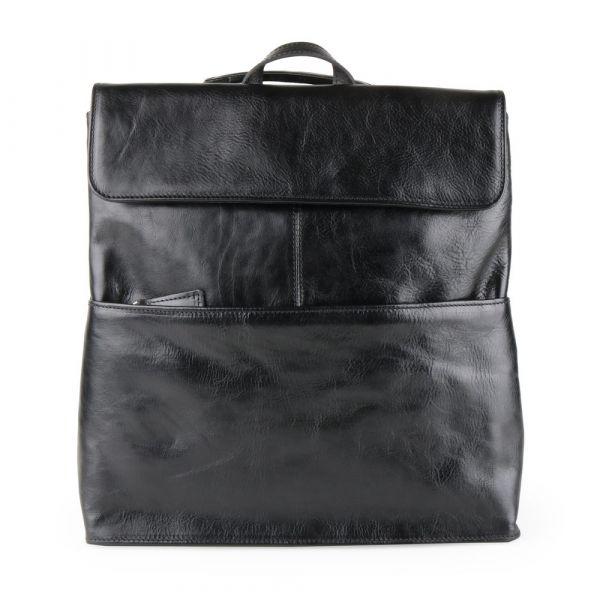 Sněžka Náchod Dámský kožený batoh 5133 – černá