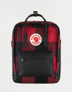 Fjällräven Kanken Re-Wool 320-550 Red-Black 16 l